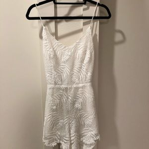 Lovers + Friends Dresses - Lovers and Friends White Lace Romper
